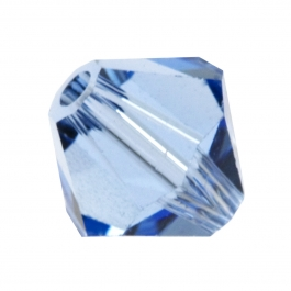 6mm Light Sapphire 5301 Bi-Cone Swarovski Crystal Beads - Pack of 10