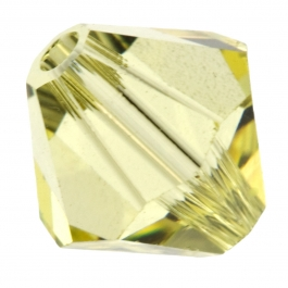 4mm Jonquil 5301 Bi-Cone Swarovski Crystal Beads - Pack of 10