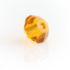 4mm Topaz 5301 Bi-Cone Swarovski Crystal Beads  - Pack of 10