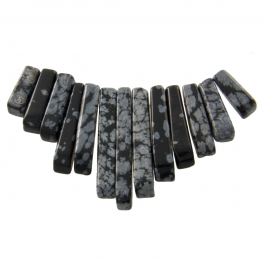 13 Piece Snowflake Obsidian Collar Set - Pack of 1