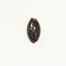 Art Nouveau Oval Black, Size 25mm
