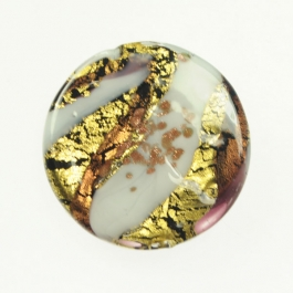 Large Abstract Disc Amethyst,White, Yellow Gold, Aventurina, Size 35mm