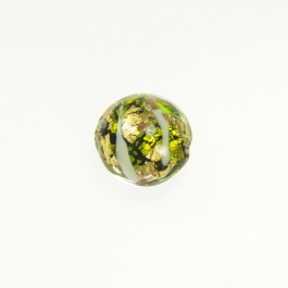 Abstract Lentil Lime/White/Yellow Gold/Aventurina, Size 17mm