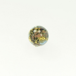 Abstract Round Crystal, Yellow Gold & Aventurina, Size 12mm