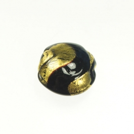 Exposed Gold Disc Chocolate/Yellow Gold, Size 25mm