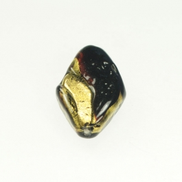 Exposed Gold Flat Diamond Chocolate/Yellow Gold, Size 30mm