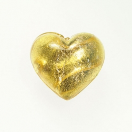 Grande Exposed Gold Heart Crystal/Yellow Gold, Size 32mm