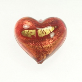 Grande Exposed Gold Heart Rubino/Yellow Gold, Size 32mm