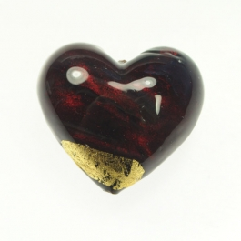 Grande Exposed Gold Heart Red/Yellow Gold, Size 32mm