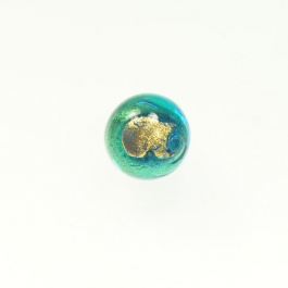 Exposed Gold Round Aqua/Yellow Gold, Size 12mm