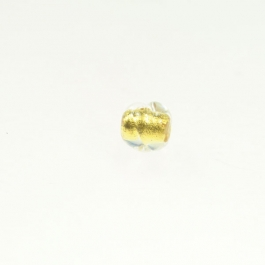 Foil Melon Crystal/Yellow Gold, Size 8mm