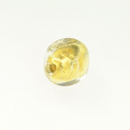 Foil Nugget Crystal/Yellow Gold, Size 16mm