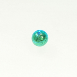 8mm Foil Round Aqua/Yellow Gold, Size 8mm