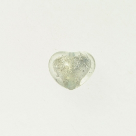 Baby Heart Crystal/White Gold Foil, Approx. Size 14mm