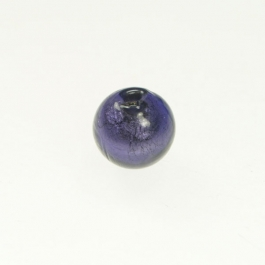 10mm Foil Round Purple/White Gold, Size 10mm
