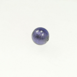 8mm Foil Round Purple/White Gold, Size 8mm
