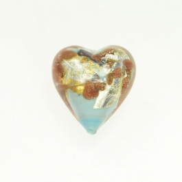 Luna Heart Luna Heart - Turquoise/White & Yellow Gold,  Aventurina, Size 21mm