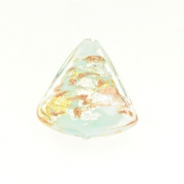 Luna Triangle Turquoise/Aventurina/Yellow Gold/Silver Foil, Size 20mm