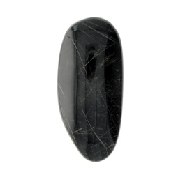 28X12mm Rutilated Quarts On Black Agate