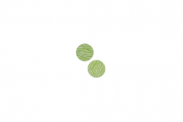 "Lillypilly - Lime Waves - 5/8"" Disc (PKG 2)"
