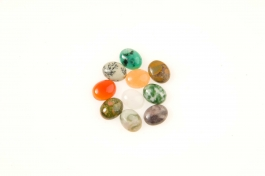 10x8mm Gemstone Oval Cabochon Assortment - Pack of 100