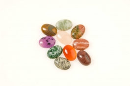 14x10mm Gemstone Oval Cabochon Assortment - Pack of 100