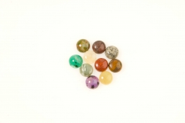 8mm Gemstone Round Cabochon Assortment - Pack of 100