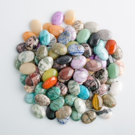 25x18MM Assorted Oval Cabochon Mix Pk100