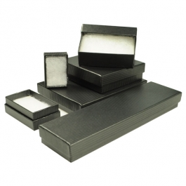 Black Pinstripe Jewelry Box Variety Pack - Pack of 78