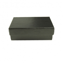 2 1/2 X 1 1/2 X 7/8 Inch Black Pinstripe Jewelry Box - Pack of 3