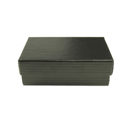 3 1/16 X 2 1/8 X 1 Inch Black Pinstripe Jewelry Box - Pack of 3