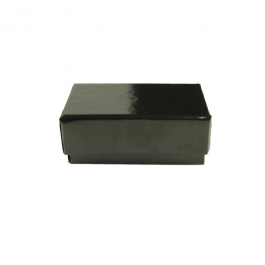 1 3/4 X 1 1/8 X 5/8 Inch Gloss Black Jewelry Box - Pack of 3