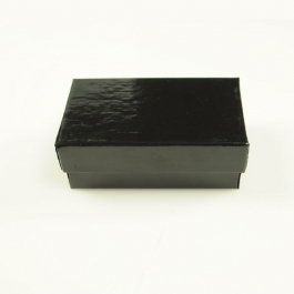 2 1/2 X 1 1/2 X 7/8 Inch Gloss Black Jewelry Box - Pack of 3