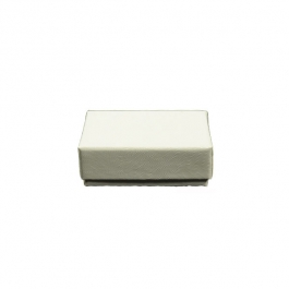 1 3/4 X 1 1/8 X 5/8 Inch White Swirl Jewelry Box - Pack of 3