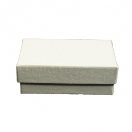 2 1/2 X 1 1/2 X 7/8 Inch White Swirl Jewelry Box - Pack of 3