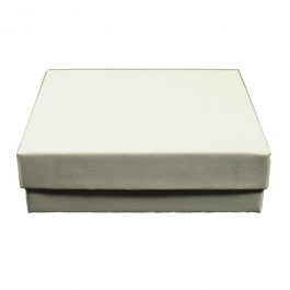 3 1/2 X 3 1/2 X 1 Inch White Swirl Jewelry Box - Pack of 3