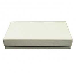 5 1/4 X 3 3/4 X 7/8 Inch White Swirl Jewelry Box - Pack of 3