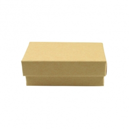 1 3/4 X 1 1/8 X 5/8 Inch Brown Kraft Jewelry Box - Pack of 3
