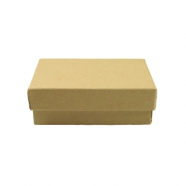 2 1/2 X 1 1/2 X 7/8 Inch Brown Kraft Jewelry Box - Pack of 3