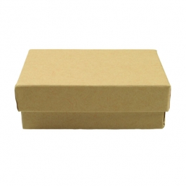 3 1/16 X 2 1/8 X 1 Inch Brown Kraft Jewelry Box - Pack of 3