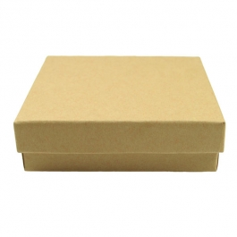 3 1/2 X 3 1/2 X 1 Inch Brown Kraft Jewelry Box - Pack of 3