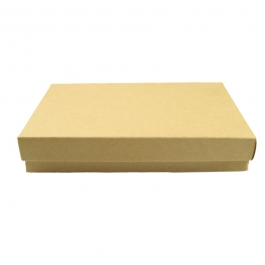 5 1/4 X 3 3/4 X 7/8 Inch Brown Kraft Jewelry Box - Pack of 3
