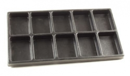 Black Plastic Tray Insert with 10 Compartments