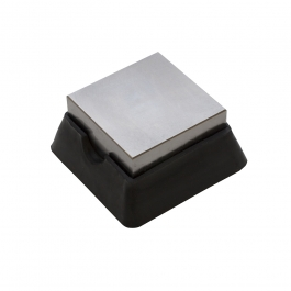 Steel and Rubber Bench Block 2.5X2.5 Inches