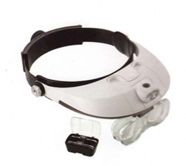 Adjustable Headband Magnifier with Light