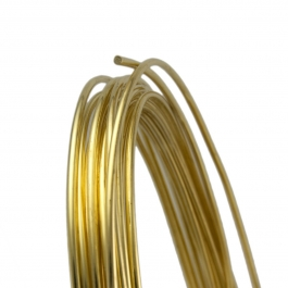 14 Gauge Round Half Hard Yellow Brass Wire