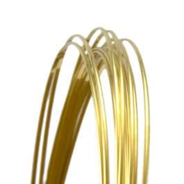 21 Gauge Half Round Half Hard Yellow Brass Wire
