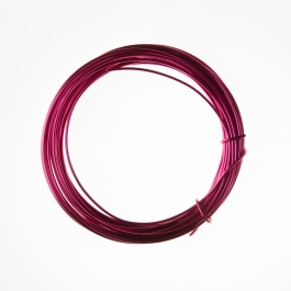 12 Gauge Fuchsia Anodized Aluminum Wire - 39ft