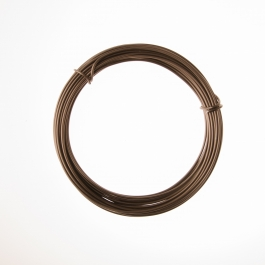 12 Gauge Matte Brown Anodized Aluminum Wire - 39ft