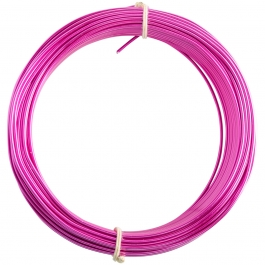 14 Gauge Fuchsia Enameled Aluminum Wire - 60ft
